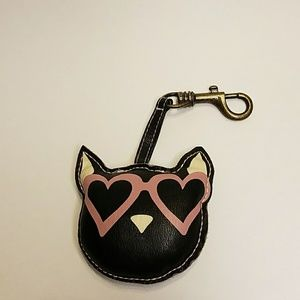 Dog head keychain or purse charm